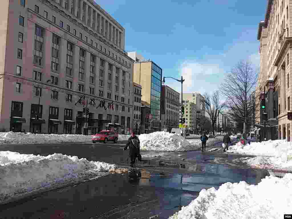 پاکسازی برف سنگین واشنگتن دی سی