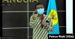 Perwakilan pengurus GKI Yasmin, Bona Sigalingging, menyampaikan penolakan tawaran relokasi dari Wali Kota Bogor dan meminta Pemkot Bogor laksanakan putusan MA dalam tangkapan layar. (Foto: VOA/Petrus Riski)