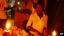 Mercado informal no Uganda