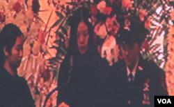 刘文健的妻子陈佩霞致悼词(视频截图 美国之音方冰拍摄)