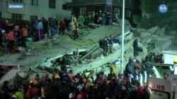 İstanbul'da Çöken Binada Kurtarma Çalışmaları Sürüyor