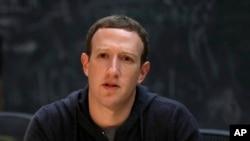 File- Facebook CEO Mark Zuckerberg.