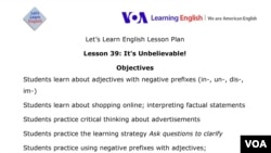 Lesson Plan - Lesson 39 - Let's Learn English
