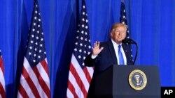 کنفرانس خبری پرزیدنت دونالد ترامپ در پایان اجلاس سران گروه۲۰ در ژاپن