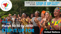 ကုလသမဂၢအမ်ဳိးသမီးမ်ားအဖဲြ႕ လွဳပ္ရွားမႈ ( 2030 – Step it up for gender equality) ဓါတ္ပံု- ကုလသမဂၢအမ်ဳိးသမီးမ်ားအဖဲြ႔