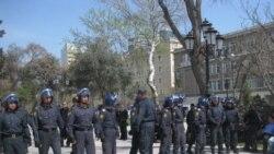 پلیس جمهوری آذربایجان معترضان ضد دولتی را بازداشت کرد