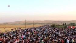 數千敘利亞人湧進庫爾德斯坦