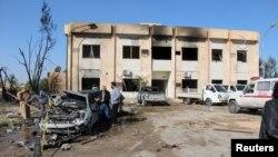 Attaque contre un centre de formation de la police dans la ville de Zliten, Libye, 7 janvier 2015.