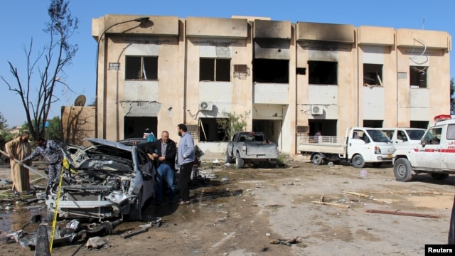 An attack on the police training center in the town of Zliten, Libya, on Jan. 7, 2015, left dozens dead.
