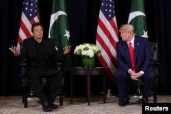 도널드 트럼프 미국 대통령과 임란 칸 파키스탄 총리가 지난 9월 뉴욕에서 열린 유엔 총회에서 별도회담을 했다.