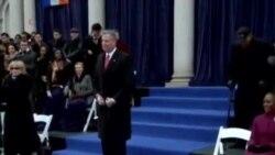 纽约新市长元旦宣誓就职