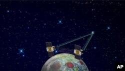 美國太空總署在2011年12月31號和今年1月1號發射了兩個探月航天器