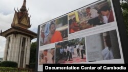 Khmer Rouge genocide exhibition on display at Wat Snguon Pich, Phnom Penh, Cambodia, July 3, 2020. (Courtesy photo of Documentation Center of Cambodia)