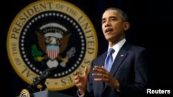 El presidente Obama durante su discurso en el foro de jóvenes en la Casa Blanca urgió a los participantes que no se desalienten y lo ayuden para difundir los beneficios de la nueva Ley de Salud.