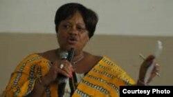 FILE - Julia Duncan-Cassell of Liberia
