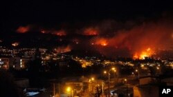 Công tác cứu hỏa bị trở ngại bởi địa hình của thành phố Valparaiso.