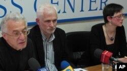 在莫斯科举行的白俄罗斯人权报告新闻发布会