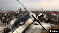 坠毁客机的残骸