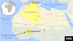 A map showing the place where the Air Algerie airplane left and its destination