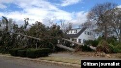 지난달 미국 동북부를 강타한 폭풍 샌디로 피해를 입은 뉴저지 포인트 플레전트 지역.