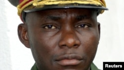 General Gabriel Amisi, the new regional commander of the Congo's 8th military region in eastern Democratic Republic of Congo poses at his base in Goma December 19, 2004.