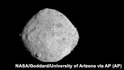 This November 16, 2018, image provide by NASA shows the asteroid Bennu.