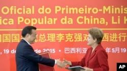 Li Keqiang e Dilma Roussef