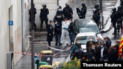 Police operation ongoing near the former offices of Charlie Hebdo, in Paris