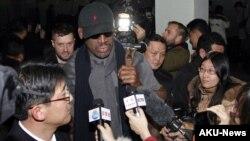 """NBA""""壞小子""""羅德曼2013年2月抵達朝鮮訪問"""