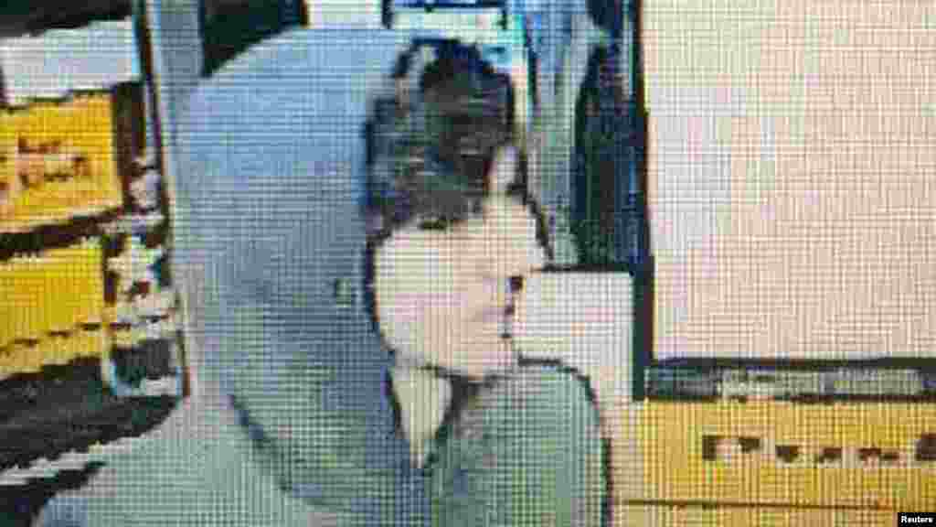A suspect wanted for questioning in relation to the April 15 Boston Marathon bombing is seen in handout photo released through the Boston Police Department Twitter page, April 19, 2013.