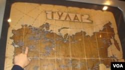 古拉格集中营分布图(美国之音白桦拍摄)
