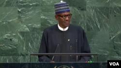Le président nigérian Muhammadu Buhari le 19 septembre 2017.