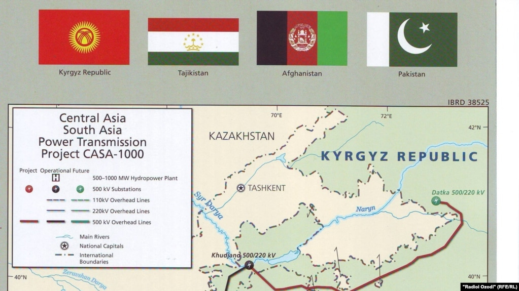 Map Of Central And South Asia.U S Supports Electrical Power For Central Asia