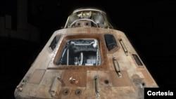 Módulo del comando Apollo 11 Columbia. [Foto: Cortesía, Eric Long, Museo del Aire y del Espacio/Smithsonian].