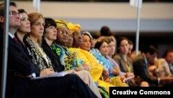 Tham dự viên tại hội nghị phụ nữ ở Kuala Lumpur, Malaysia