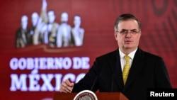 El canciller mexicano Marcelo Ebrard anunció el martes 7 de enero de 2020 la visita del fiscal estadounidense a su país.