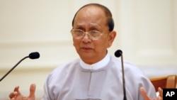Le président birman Thein Sein au palais présidentiel, à Naypyitaw