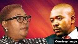 Thokozani Khupe and Nelson Chamisa