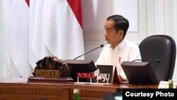 Presiden Joko Widodo saat memimpin rapat Kabinet di Istana Kepresidenan, Jakarta (Foto: Biro Setpres)