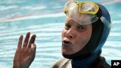 Natalia Molchanova, de Rusia, en una foto tomada en Suiza en agosto de 2005.