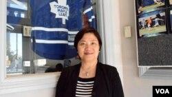 资料照:香港加拿大联会会长冯玉兰(VOA汤惠芸摄)