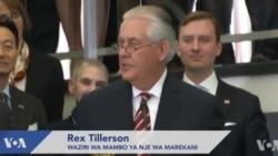 Waziri Rex Tillerson asafiri bila ya wanahabari