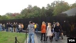越戰紀念牆(資料圖片)
