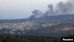 Последствия авиаудара правительственных войск в провинции Идлиб, Сирия. 28 октября 2012 года