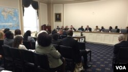Congressional hearing on Zimbabwe at the U.S Capitol Hill in Washington DC. (Photo: Ndimyake Mwakalyelye)