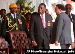 Zimbabwe's new president Emmerson Mnangagwa.