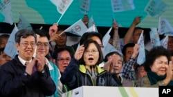 蔡英文領導的民進黨將首次控制台灣立法院