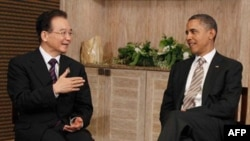 Obama, Bali adasında Çin Başbakanı Wen Jiabao ile görüşürken