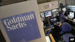 Bilik Goldman Sachs di Bursa Efek New York. (Foto: Dok)