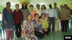 Sebagian teolog EATWOT yang ikut berpartisipasi dalam dialog toleransi beragama di Yogyakarta (23/4)